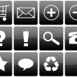 Black Glossy Web Icon Set — Stock Photo #18470159