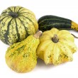 Stock Photo: Four Decorative Pumpkins
