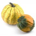 Two Miniature Ornamental Pumpkins — Stock Photo #18508281