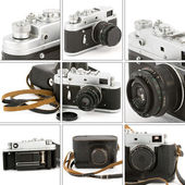 Vintage Camera Montage — Stock Photo