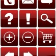 Red Glossy Web Icon Set — Stock Photo #35688847