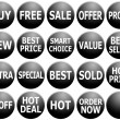 Stock Photo: Set of Black Promotional Web-Icons