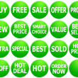 Stock Photo: Set of Green Promotional Web-Icons