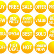 Stock Photo: Set of Yellow Promotional Web-Icons
