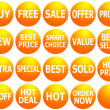 Set of Orange Promotional Web-Icons — Stock Photo