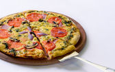 Pizza deliciosa — Foto Stock