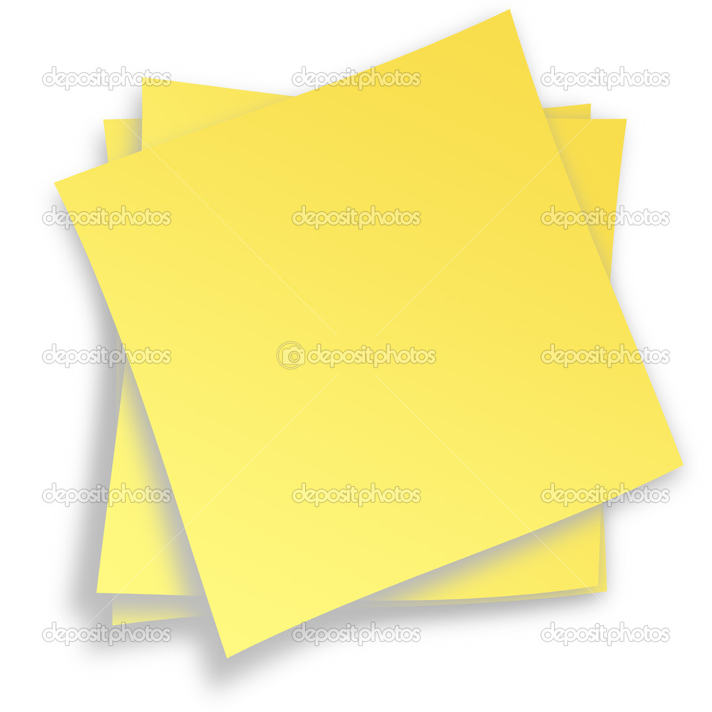 Post it isolated on white background — Stock Photo #18342731