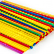 Straws of different colors, — Foto Stock