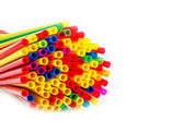 Straws of different colors, — Stock Photo