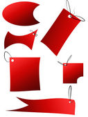 Set of red sale stickers, tags, buttons and icons — Stock Photo