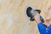 Polishing walls — Stock Photo