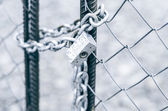 Chain with a lock — Stock Photo