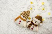 Snowman christmas — Stock Photo