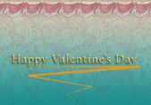 Cartão de dia dos namorados com um padrão — Foto Stock