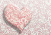 Card Valentine's Day with a pattern — Stock Photo
