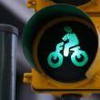 Stock Photo: Traffic light bike sign