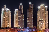 Skyscrapers at night — Stock Photo