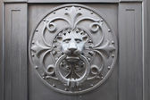 Lion's Head Door Knocker — Stock Photo