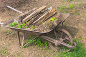 Metal Wheelbarrow — Stock Photo