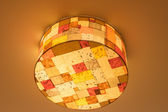 Ceiling lamp, tartan — Stock Photo