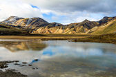 Jezioro w landmannalaugar, islandia — Zdjęcie stockowe