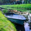 Stock Photo: Well Loved Dutch Rowboat