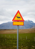 Reindeer warning sign, Iceland — Stock Photo
