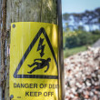 Danger of Death Warning Sign — Stock Photo
