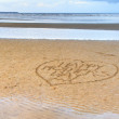 Royalty-Free Stock Photo: Happy Mother\'s Day written in the sand