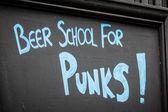 Bier schule für punks — Stockfoto