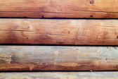 Log cabin walls horizontal — Stock Photo