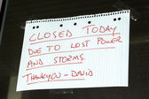 Business Closed sign — Stock Photo