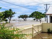 Flood waters — Stock Photo