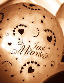 Just Married Balloon — Foto Stock
