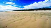 Expanse of Beach under a blue sky — Stock Photo