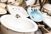 Bathroom sinks — Stock Photo