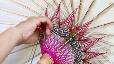 Malarstwo parasol — Wideo stockowe