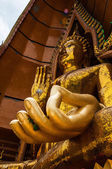 Buddha statue in Thailand temple — Stock Photo