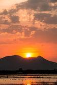 Sunset on the mountian — Stock Photo