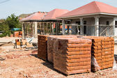 Housing project construction — Stock Photo