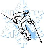 Skiing — Stock Vector