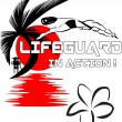 Lifeguard in action — Stock Vector #18522901