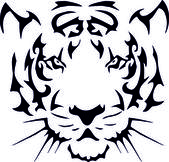 Tiger tattoo — Stock Vector