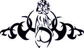 Tribal Nude — Stock Vector