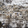 Stock Photo: Town hillside in the Alps