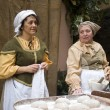 Stock Photo: Bakers. Participants of medieval costume party