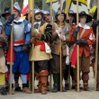 Stock Photo: Medieval soldiers. Participants of medieval costume party