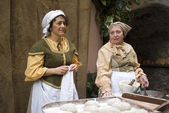 Bakers. Participants of medieval costume party — Foto de Stock