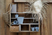 Detail of a rustic decoration — Stock Photo