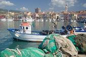 Fishing port of Imperia Oneglia, Liguria-Italy — Stock Photo